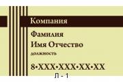 Личная визитка. Образцы и шаблоны личных визиток. Заказ визиток онлайн